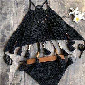 Other - HP 🎉 MORE COLORS crochet bikini w beaded tassels